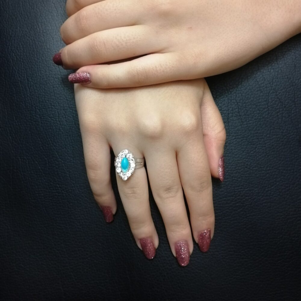 انگشتر فیروزه نگین دار