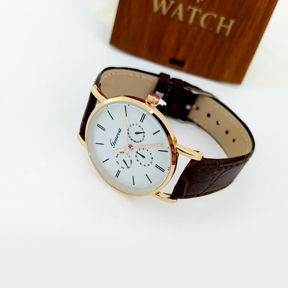 ساعت دستبند چرمی