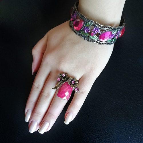 ست دستبند و انگشتر (قابلیت تغییر سایز)