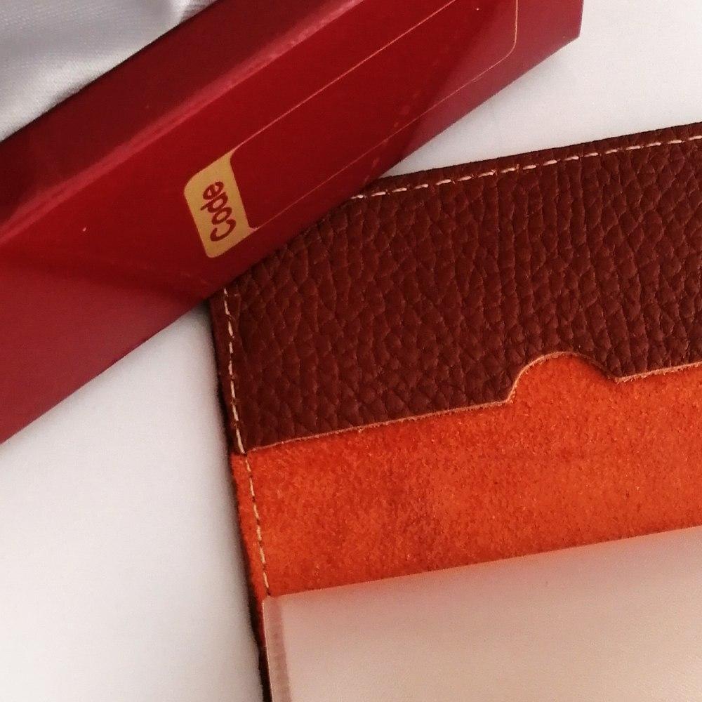 کیف کتی آلبوم دار دو رنگ و جا کارتی به همراه جا کلیدی (چرم طبیعی)