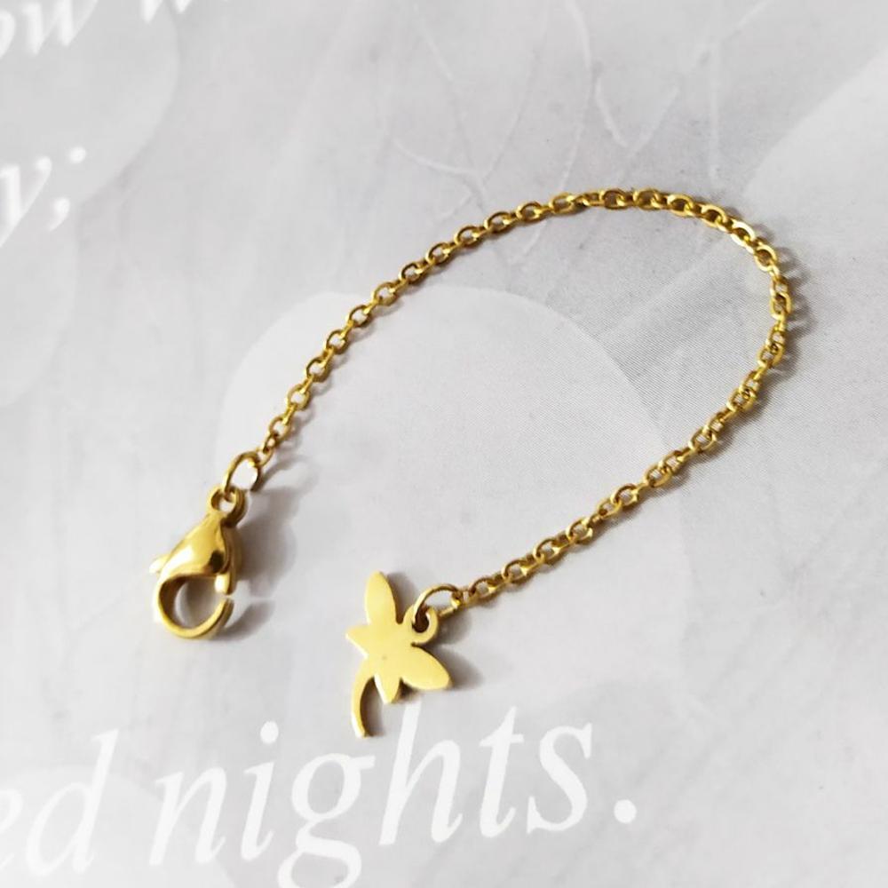 آویز ساعت استیل طرح پروانه رنگ طلایی