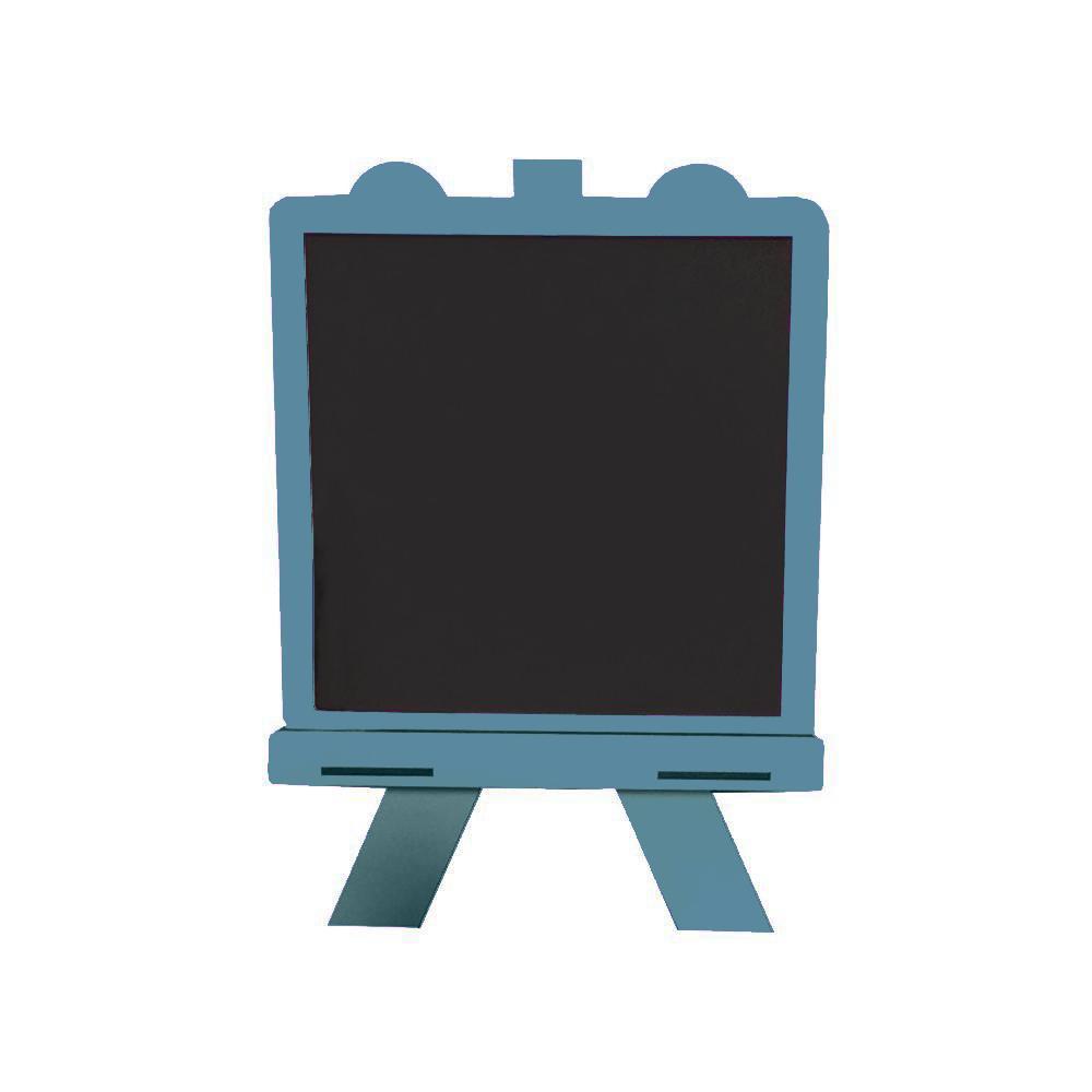 تخته سیاه فانتزی پایه دار ایستاده رنگ آبی