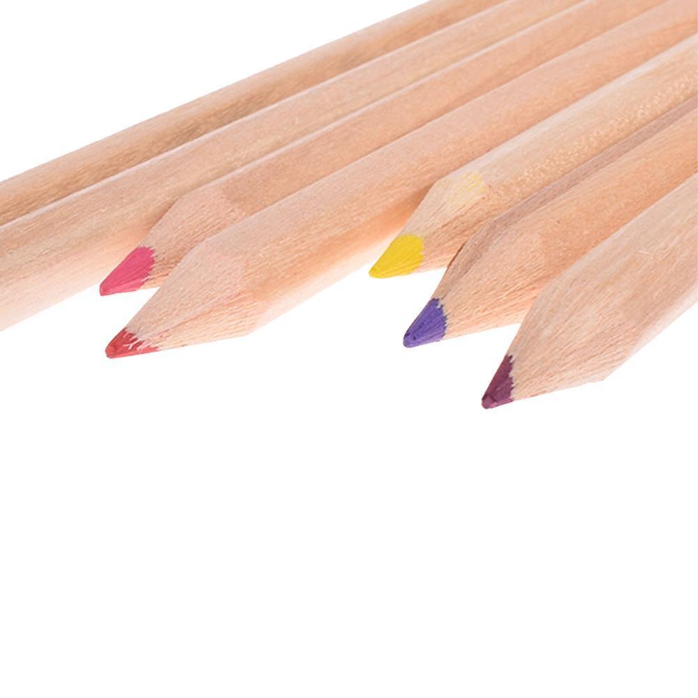 مداد رنگی 12 تایی جعبه چوبی + مداد تراش