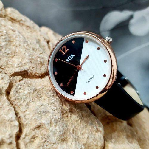 ساعت زنانه اسپرت و ظریف دستبند چرمی