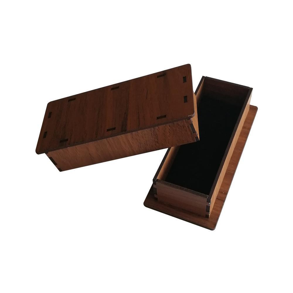جعبه کادو چوبی (کف پارچه مخملی) مناسب برای بدلیجات و جا کلیدی