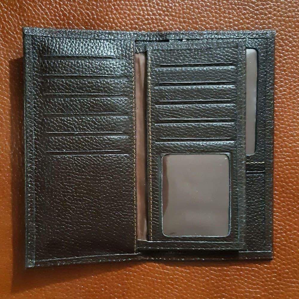 کیف کتی آلبوم دار به همراه جا کلیدی آویزدار با جعبه چوبی (چرم طبیعی)