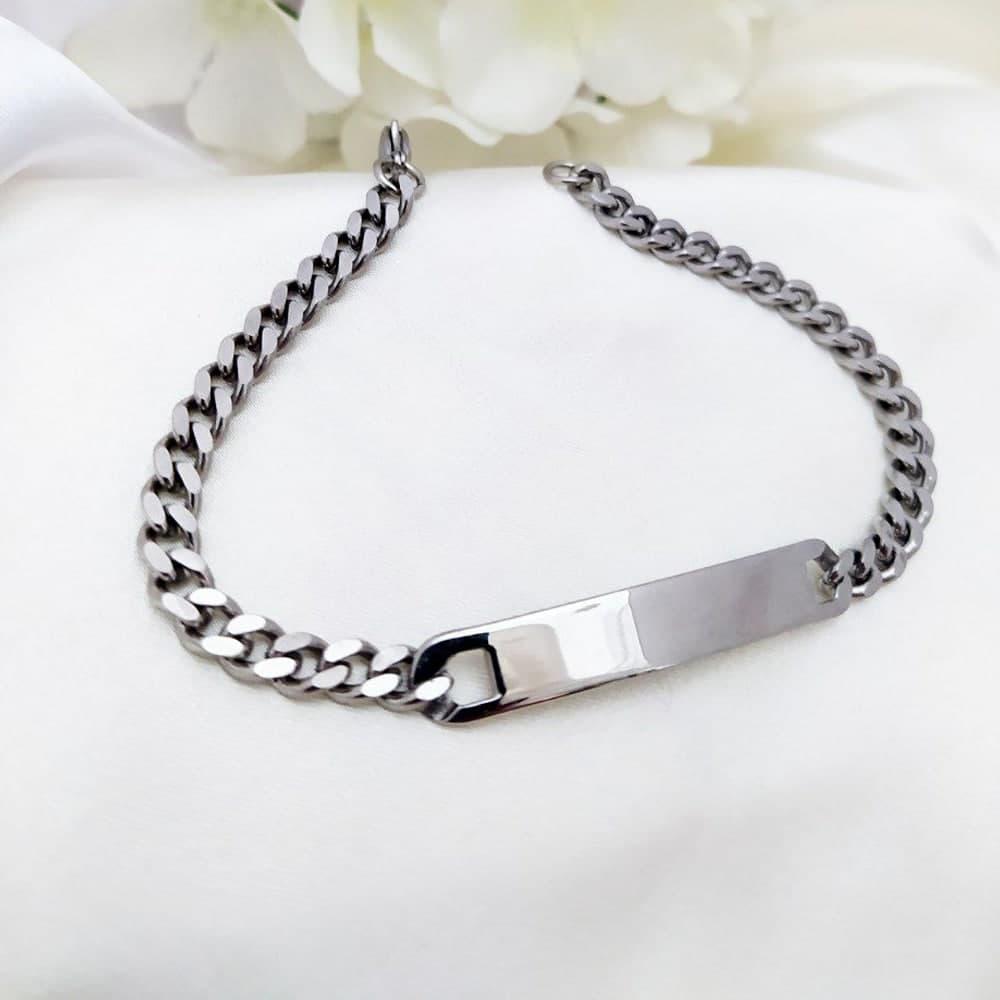 دستبند استیل نقره ای (اسپورت) رنگ ثابت